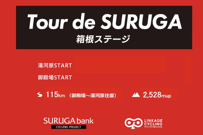 募集を締め切りました。スルガ銀行プレゼンツ Tour de SURUGA 御殿場発着 箱根ステージ115km @ スルガ銀行サイクルステーション(御殿場東支店併設)